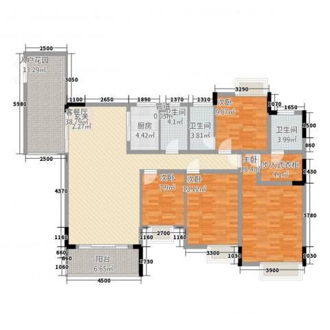 勒水名筑4室1厅3卫1厨183.00㎡户型图