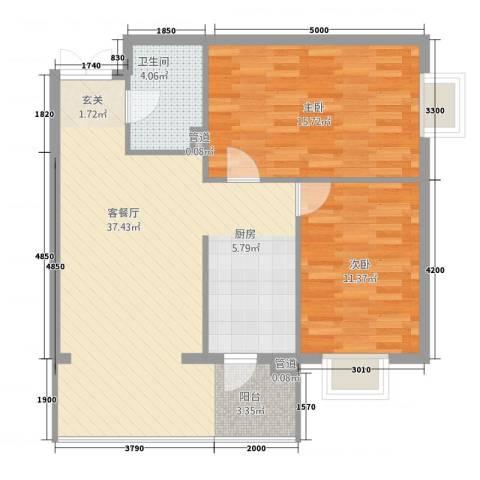 新大发国际广场2室1厅1卫0厨94.00㎡户型图