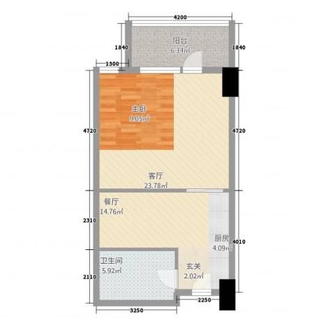 世纪之帆2厅1卫0厨71.00㎡户型图