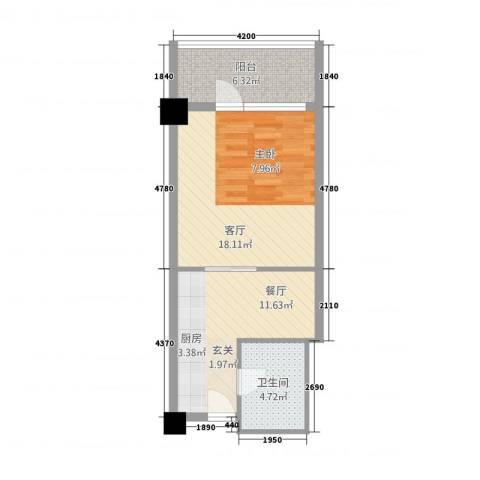 世纪之帆2厅1卫0厨58.00㎡户型图