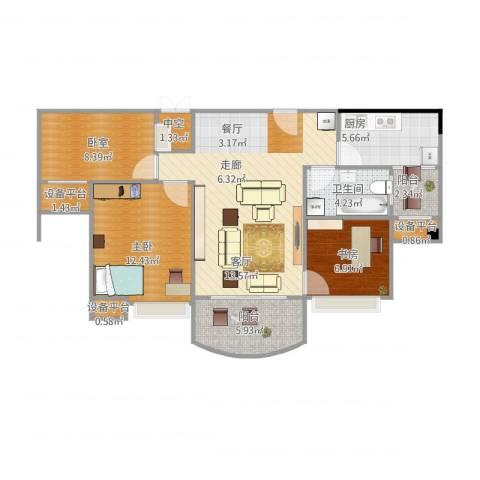 碧桂园凰城2室1厅1卫1厨102.00㎡户型图