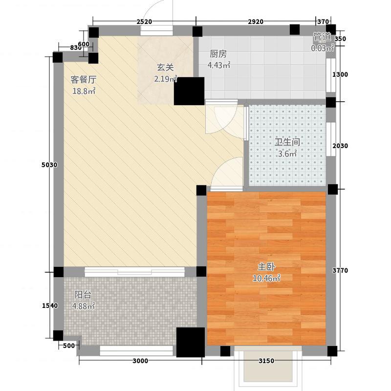 吴风甫里街48.00㎡小区户型1室