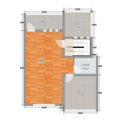 金科花园1室0厅1卫0厨68.60㎡户型图