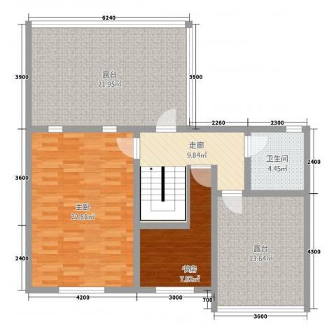 金科花园2室0厅1卫0厨80.51㎡户型图