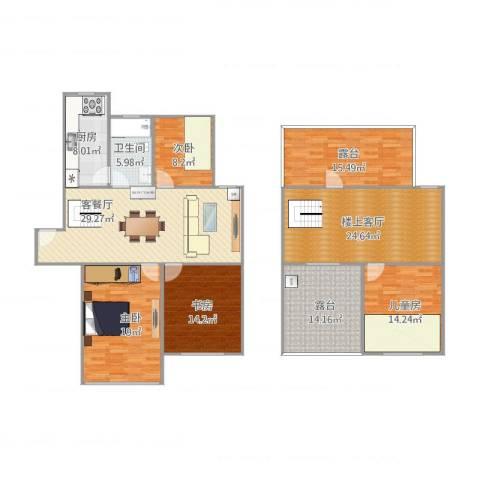 翠园新村4室1厅1卫1厨204.00㎡户型图
