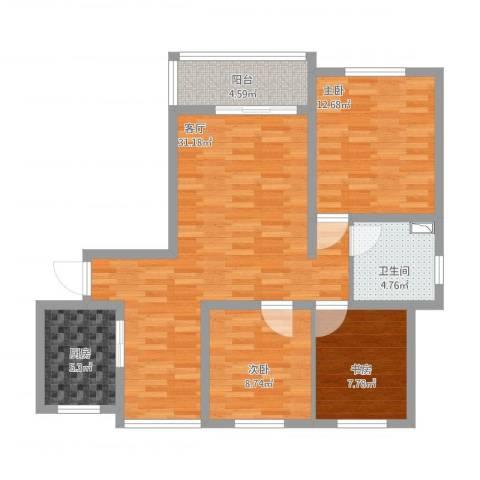 浦江宝邸3室1厅1卫1厨109.00㎡户型图
