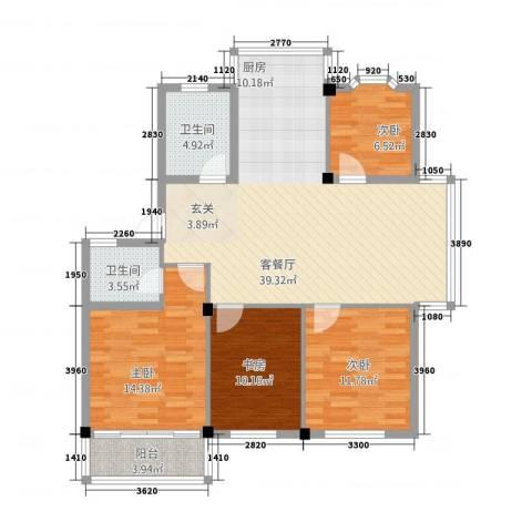 美之苑4室1厅2卫0厨94.57㎡户型图