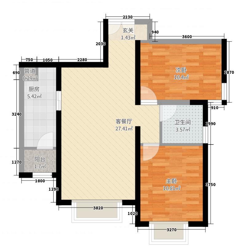朝阳无限户型2室