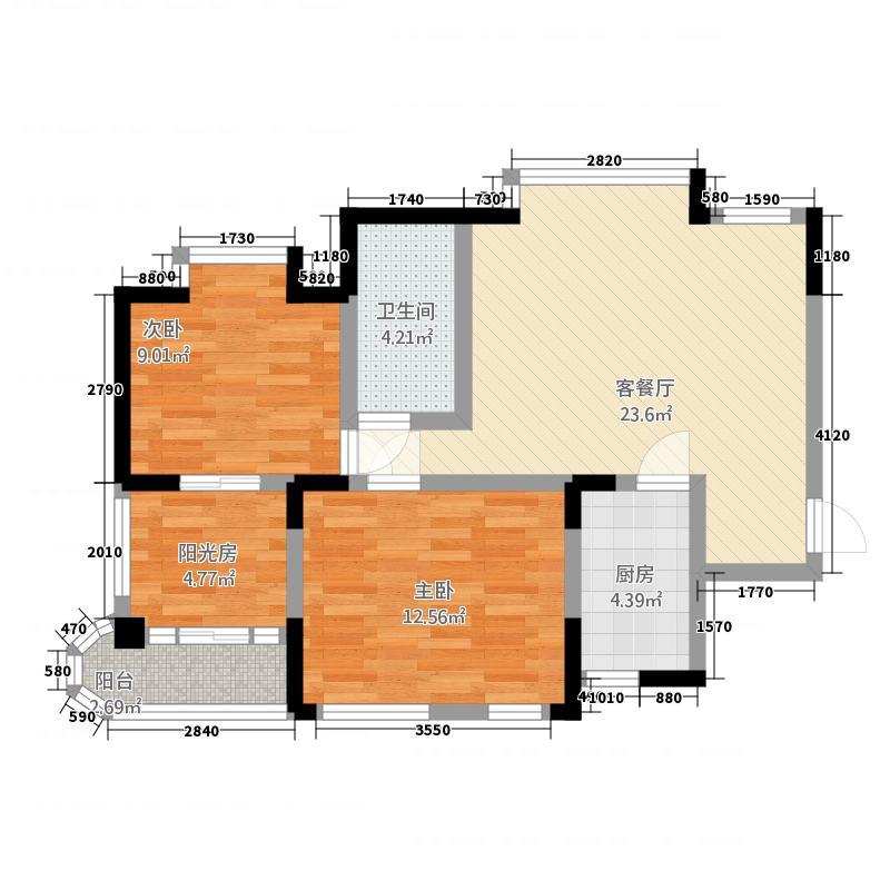 凯祥花苑户型2室