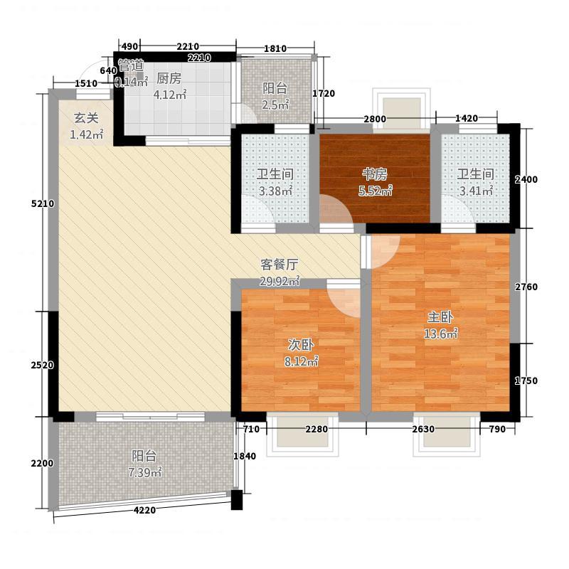 东骧神骏・万泰8.00㎡小区户型3室