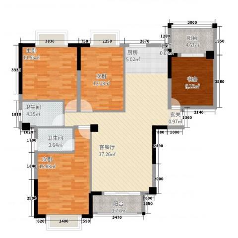 金水湾4室1厅2卫0厨117.93㎡户型图