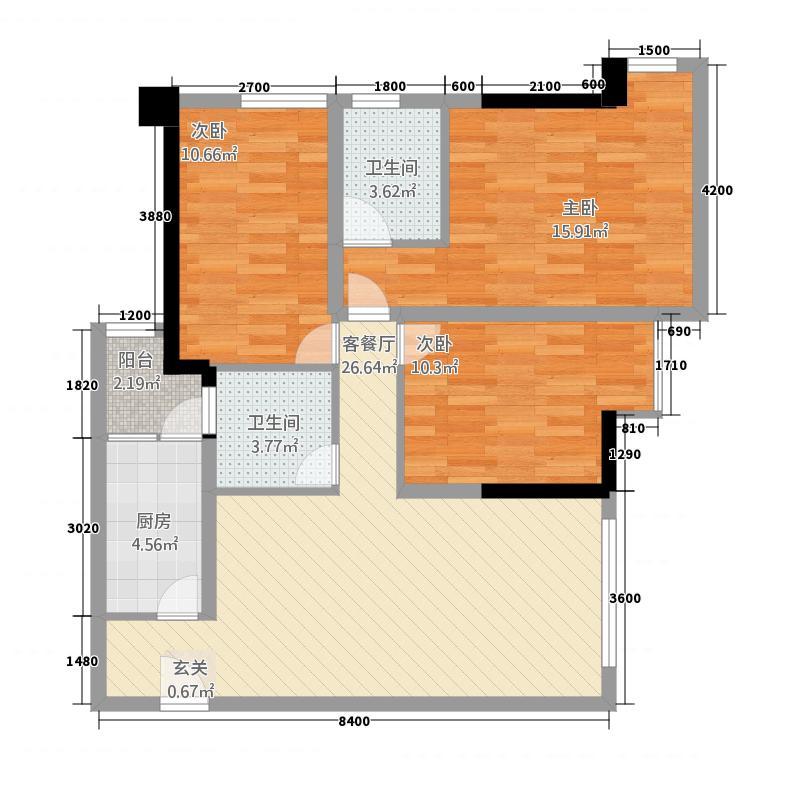 凯旋国际3112.22㎡户型3室2厅2卫1厨