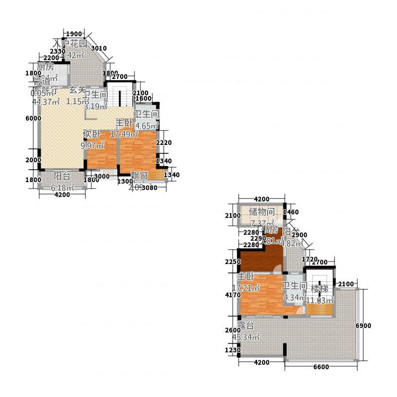 里维埃拉18.10㎡10栋1、2单元02、0户型4室2厅3卫1厨
