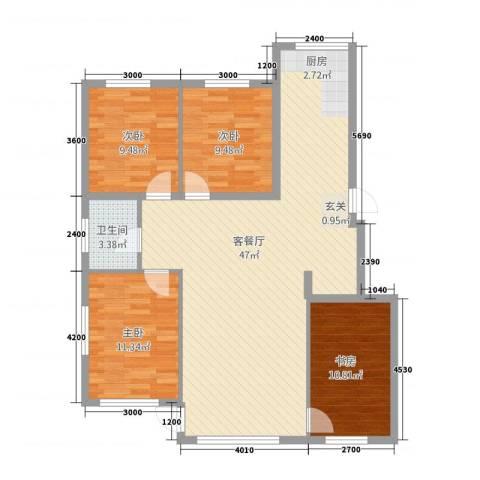 城润万家4室1厅1卫0厨91.47㎡户型图