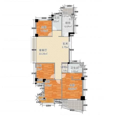 利玛・国际锦苑4室1厅2卫1厨149.00㎡户型图