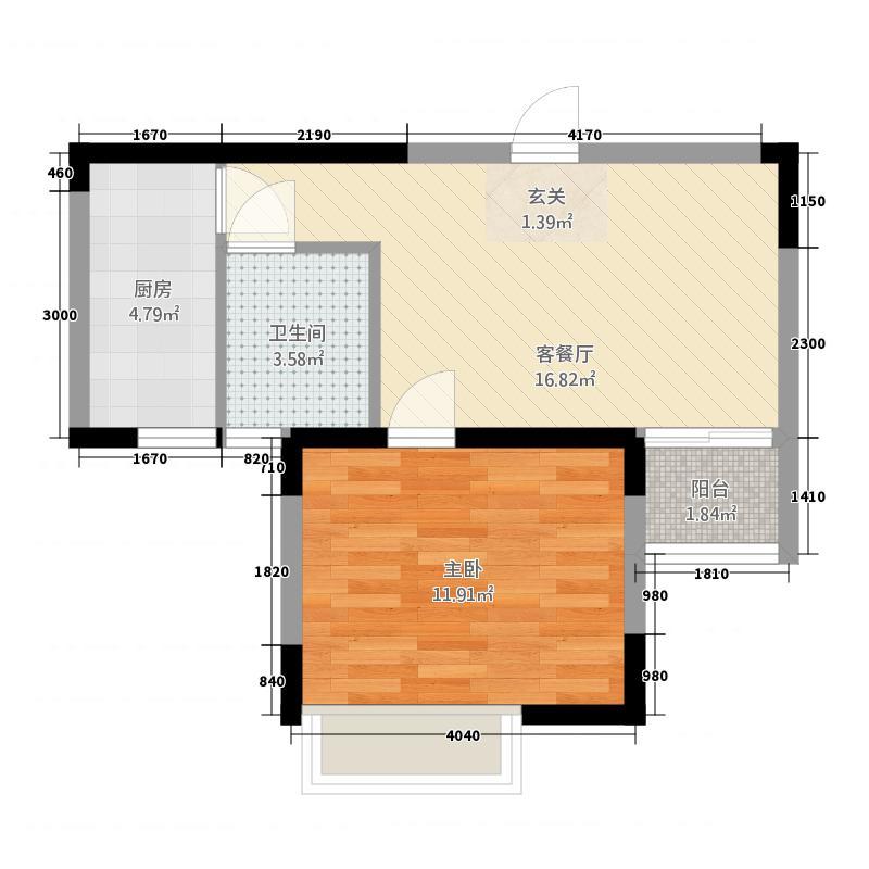 凯祥花苑户型1室