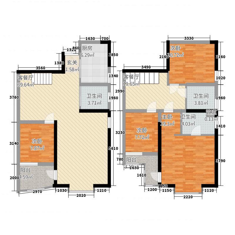 和谐世纪177.87㎡D-3户型4室2厅3卫1厨