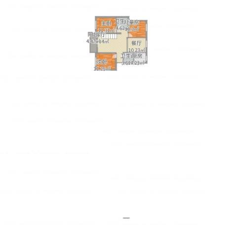 万馨佳园3室2厅2卫1厨122.00㎡户型图