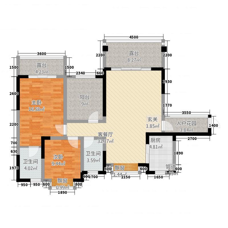 蔷薇郡7号楼7-1-03户型(售罄)105