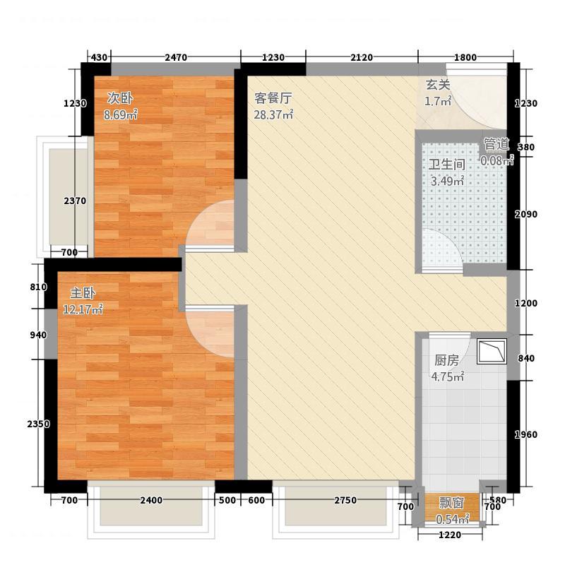 泰山国际金融中心385.20㎡户型2室2厅1卫1厨