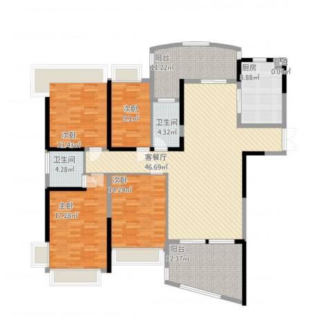 凯茵新城4室1厅2卫1厨201.00㎡户型图