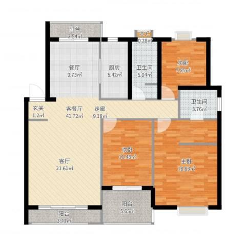 惠丰花园3室1厅3卫1厨149.00㎡户型图