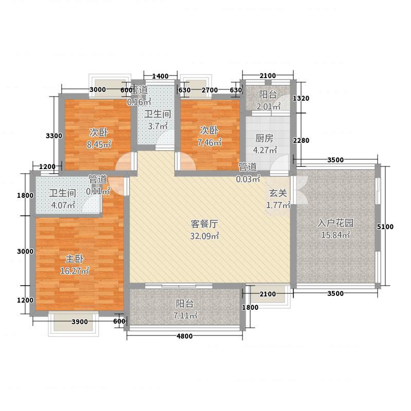 滨江一号户型3室