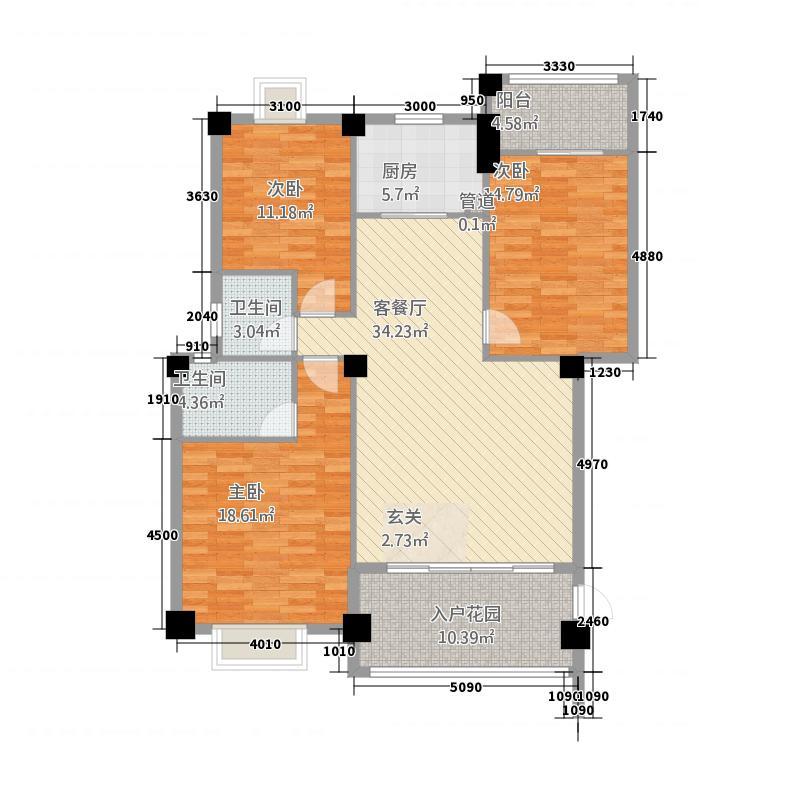 东方新城15.00㎡户型3室