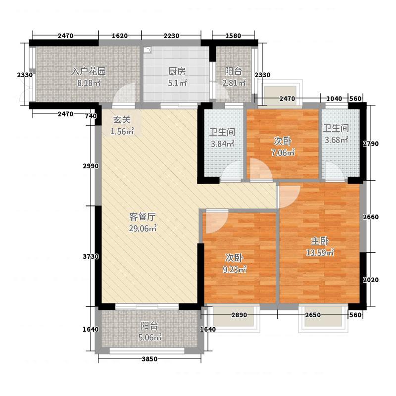 裕和轩122.15㎡0户型3室2厅2卫1厨