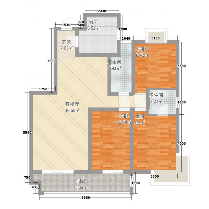 湘许嘉园户型3室