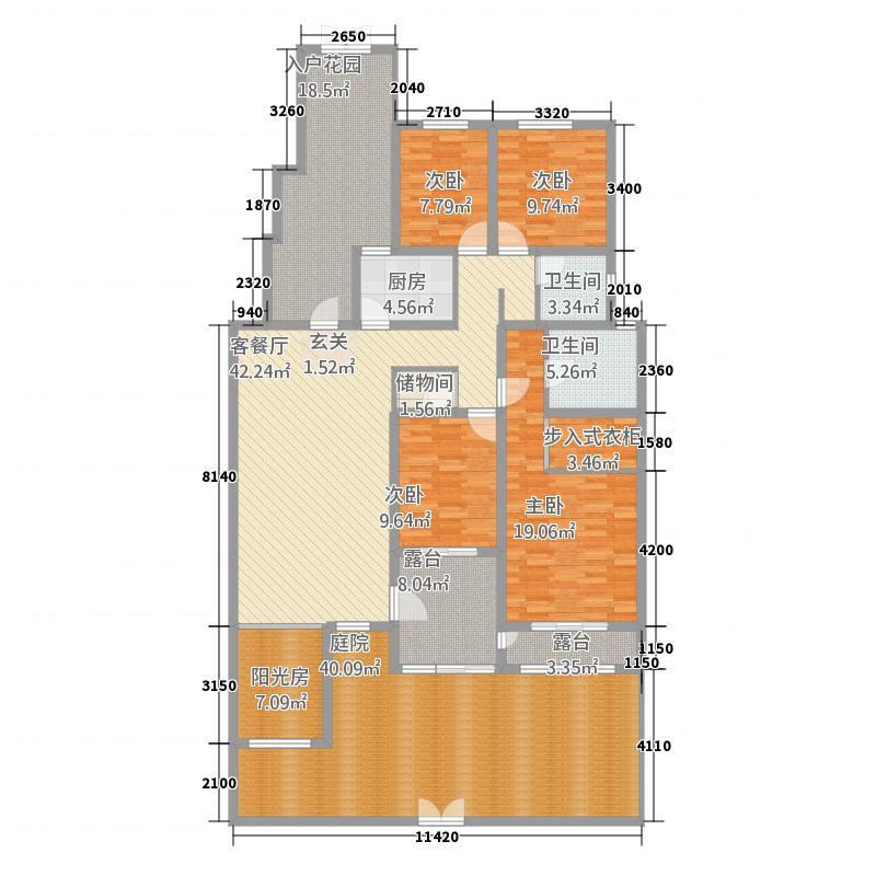 盛世名门18.00㎡1户型4室2厅2卫1厨