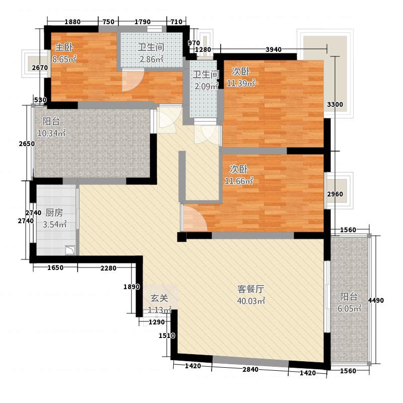 第三城141.00㎡户型3室