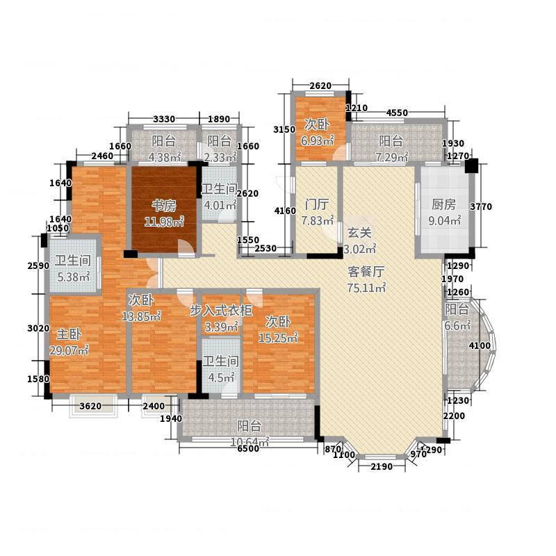 鑫佳玫瑰园237.30㎡D3户型5室2厅3卫1厨