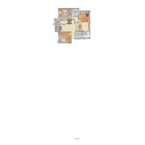 万馨佳园3室1厅2卫1厨122.00㎡户型图