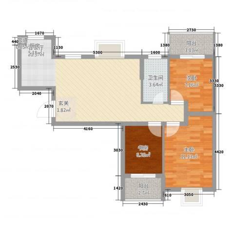 摩尔尚城3室1厅1卫0厨70.00㎡户型图