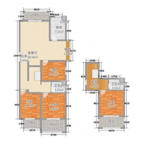 泰和・水岸嘉园4室1厅2卫1厨206.00㎡户型图