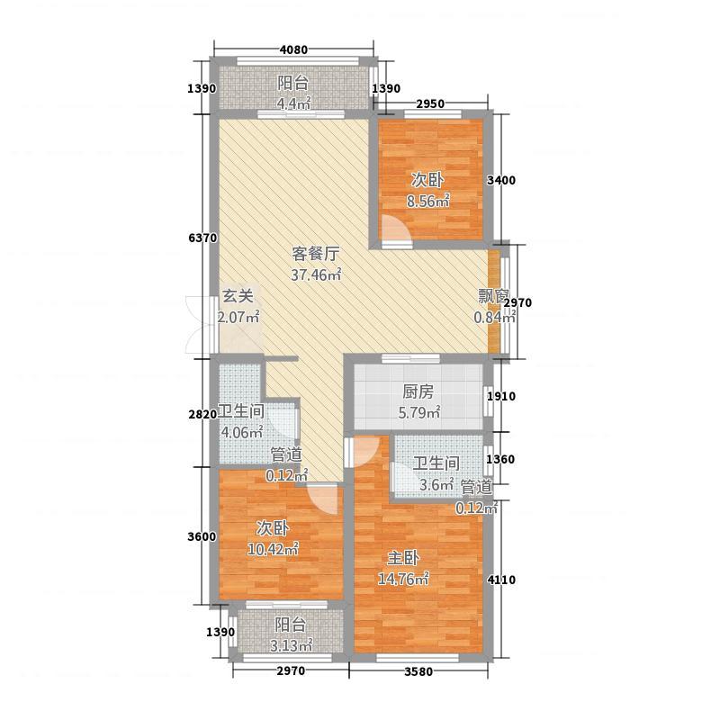 泰和・水岸嘉园3号楼优雅三居户型