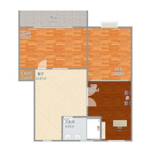 康居苑23室1厅1卫1厨110.00㎡户型图