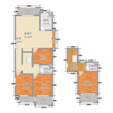 泰和・水岸嘉园4室1厅2卫1厨207.00㎡户型图