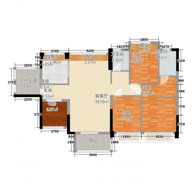 大朗毛织贸易中心户型4室2厅2卫