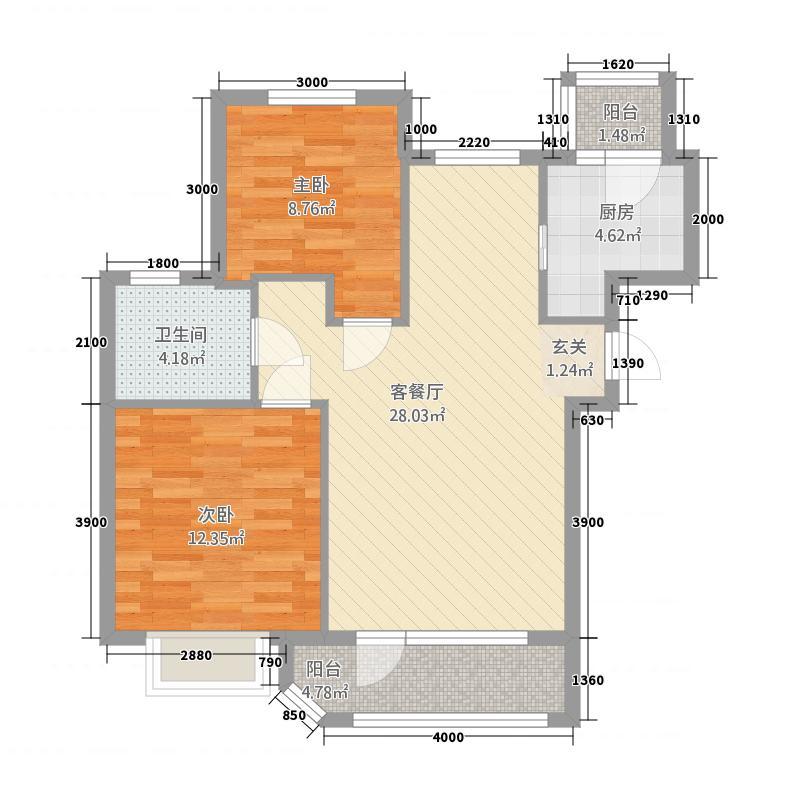 中央公馆户型2室