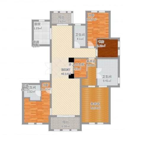维科太子湾3室1厅3卫1厨185.00㎡户型图