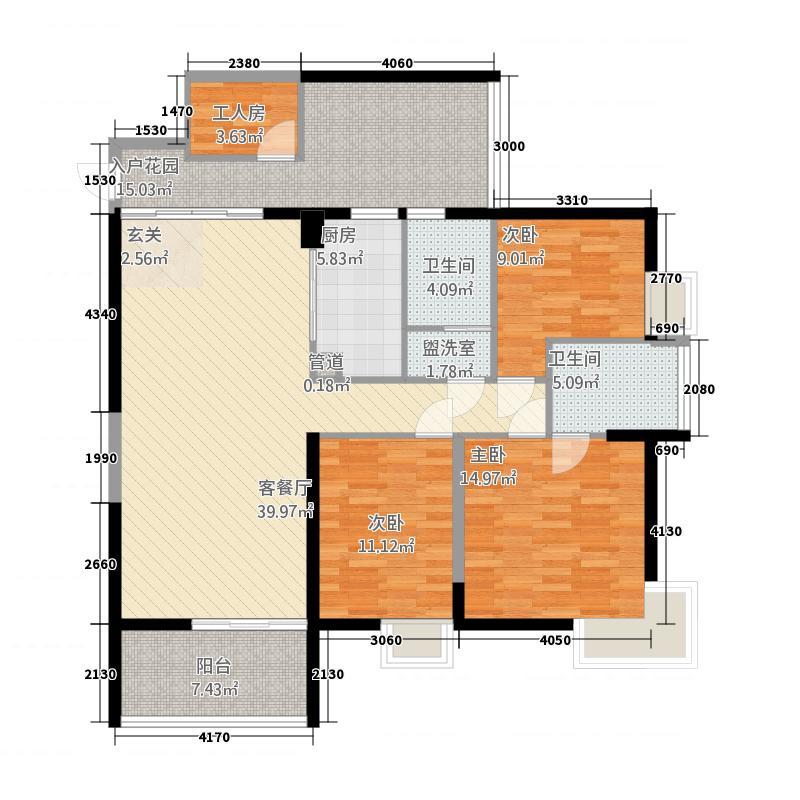 金色俊园134.00㎡E-02-B、E-02-BA、F-02-B、F-02-BA、H-02-B户型3室2厅2卫1厨