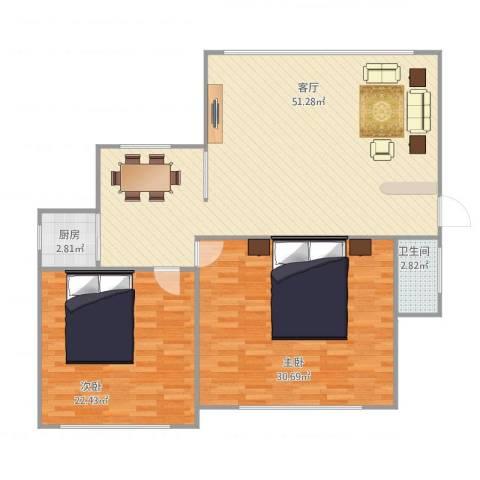 盛世花园1002室1厅1卫1厨145.00㎡户型图