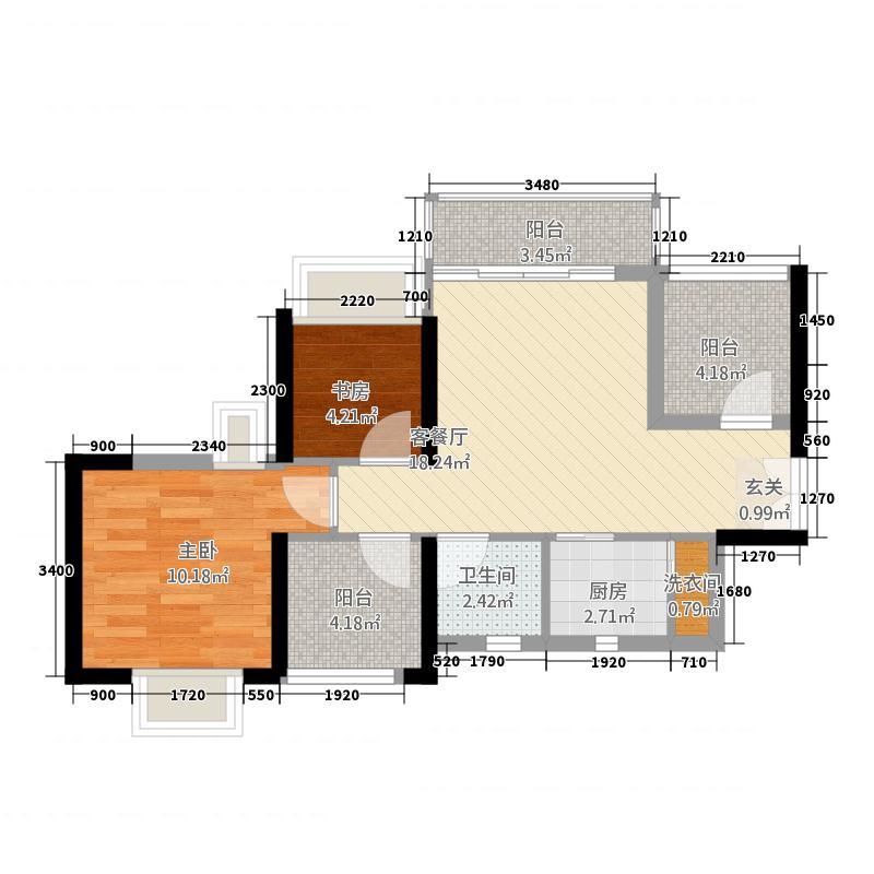 深业商城户型2室2厅