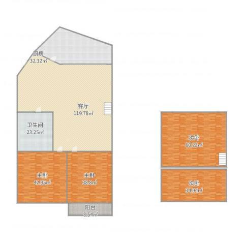 富民广场4室1厅1卫1厨467.00㎡户型图