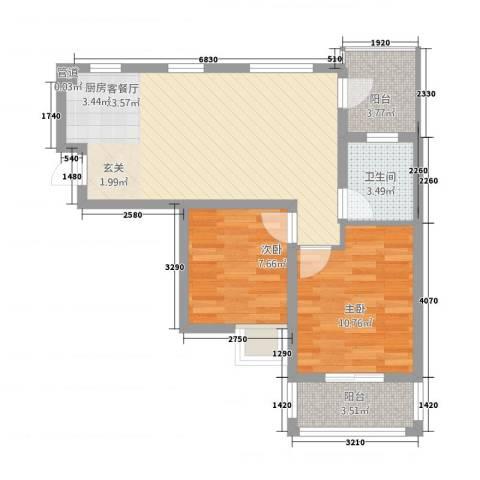 摩尔尚城2室1厅1卫0厨61.00㎡户型图