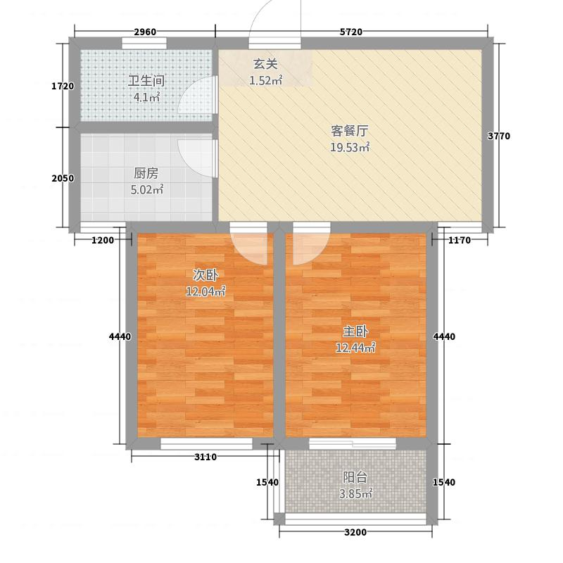 东方新天地2267.82㎡户型2室1厅1卫1厨