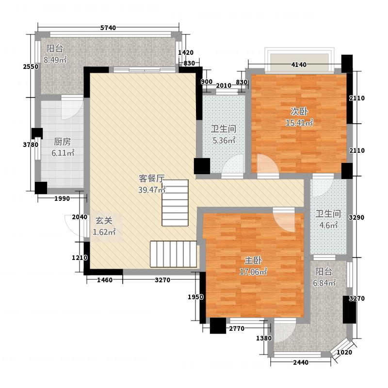 中盛・立方城121.62㎡未标题-户型3室2厅2卫1厨