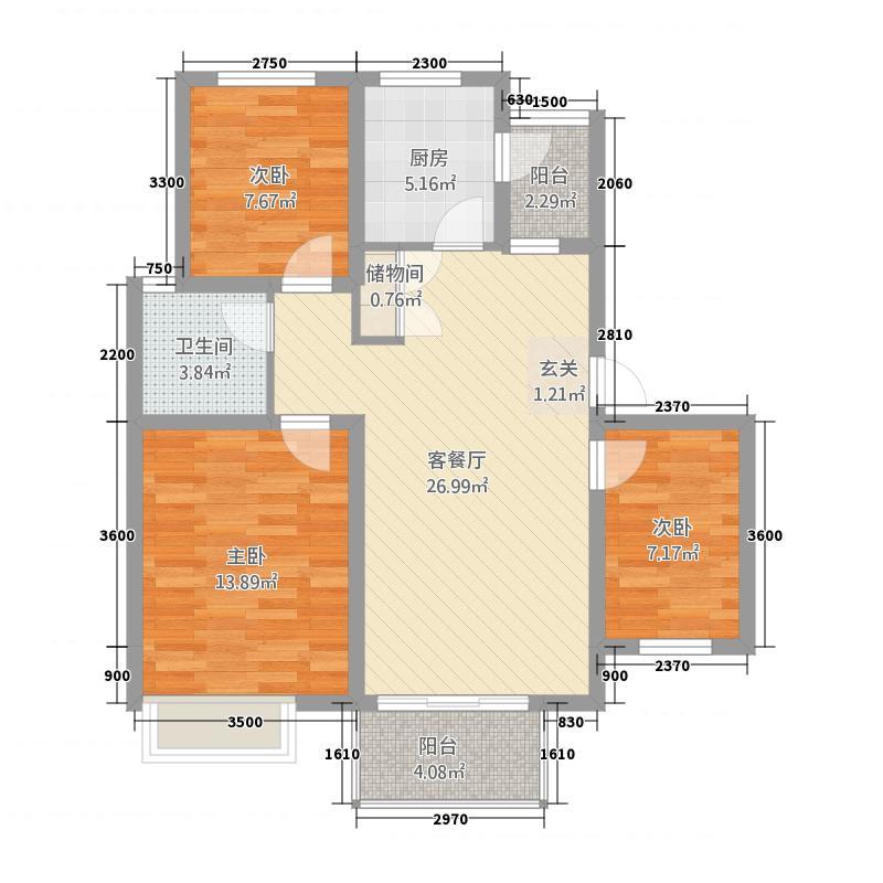 天华绿谷庄园15.00㎡户型3室